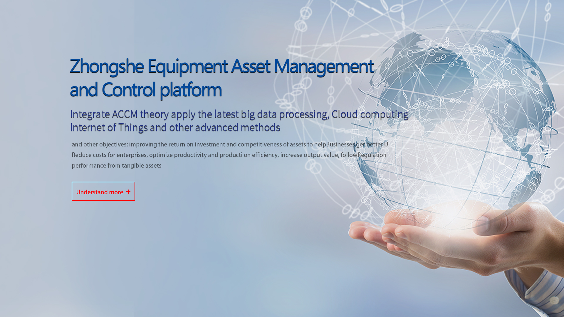 CMEC Equipment Asset Management and Control Platform